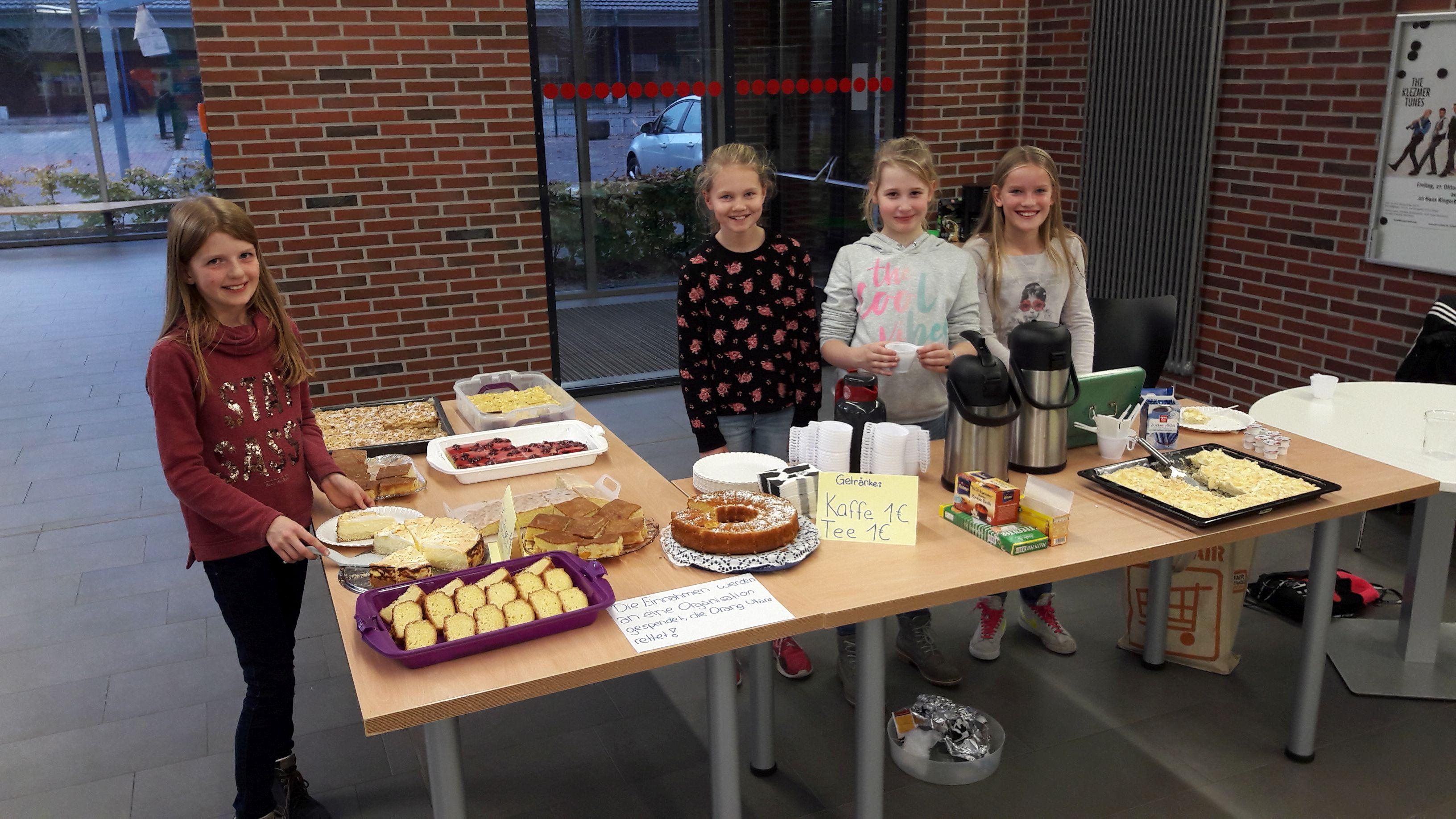 Kuchenverkauf erlöst fast 200€ Gymnasium an der Vechte